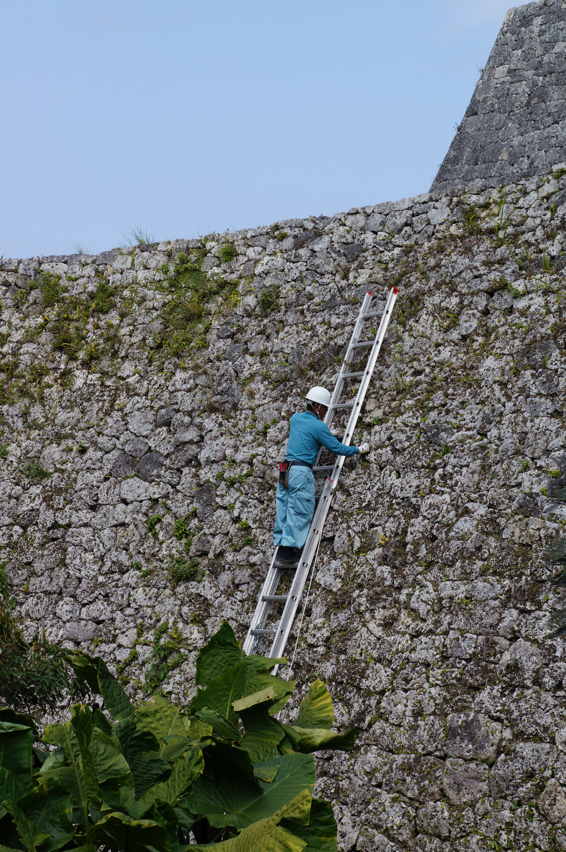 Mock-up Of Nakijin Castle Ruins In Okinawa, Japan ... |Okinawa Japan Ruins