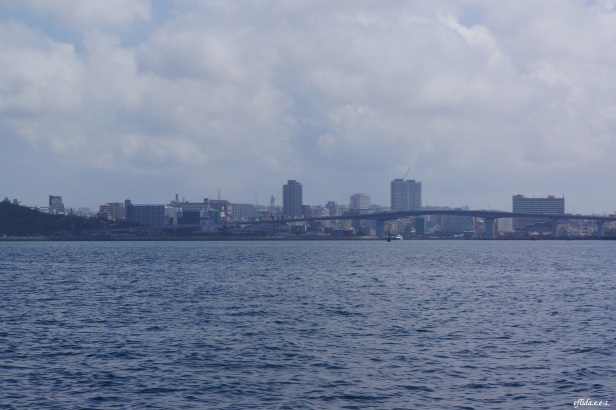 A view of Naha City, Okinawa from our boat during the whale watching tour.