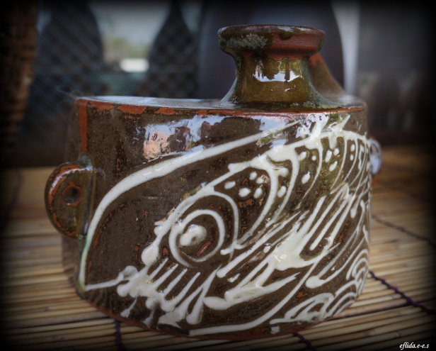 One of the beautiful masterpieces displayed in Yomitan Pottery Village in Okinawa, Japan.