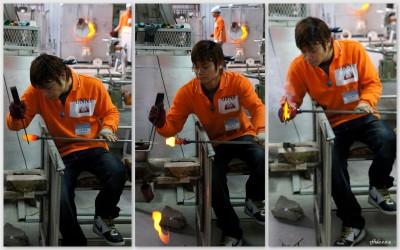 The art of hand making glass at Onna Glass Studio in Okinawa.