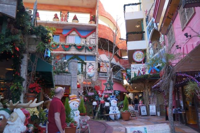 Inside the magical alleys of Mihama American Village in Chatan, Okinawa, Japan.