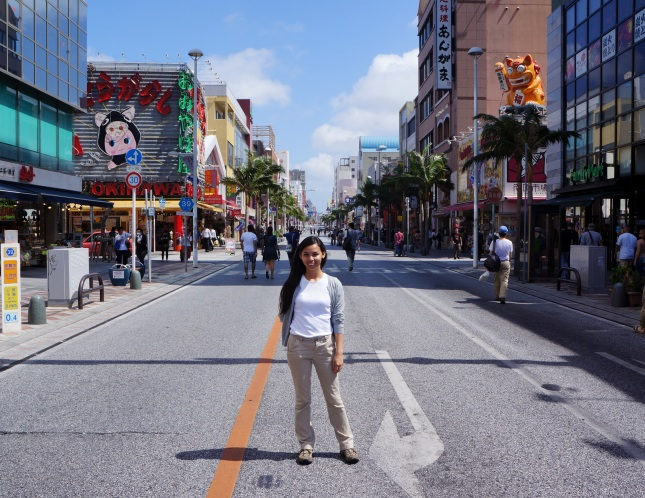 At certain times of the day, Kokusaidori or Kokusai Street in Naha City, Okinawa, Japan becomes one way and one gets to stand right in the middle.
