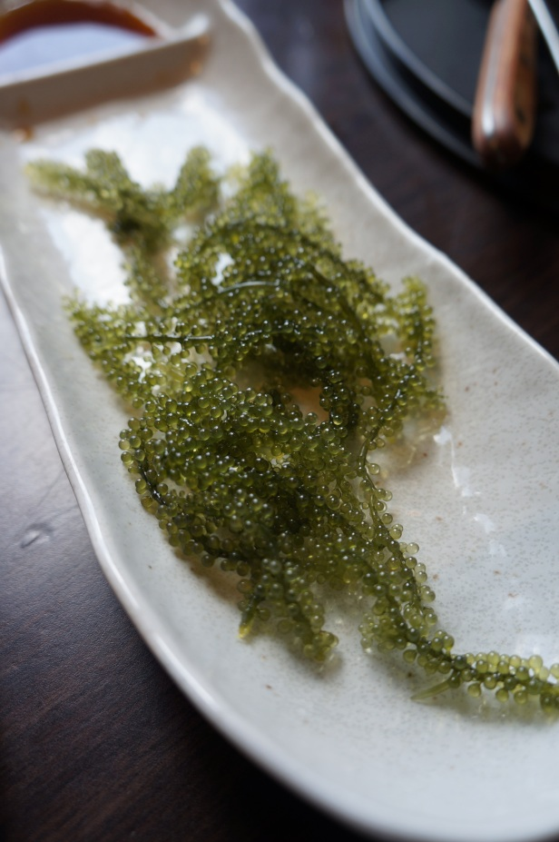 Grape Seaweed called Umi-budo in Japanese is famous in Okinawa and is now my hubby and I's favorite.