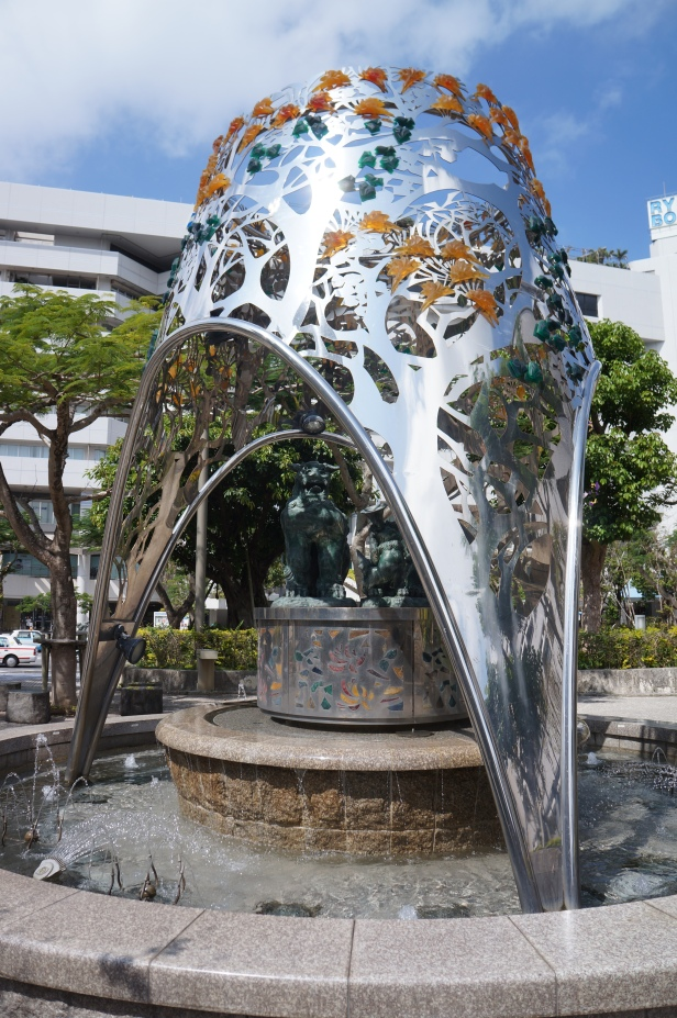 Some architectural displays in Naha City, Okinawa, Japan.
