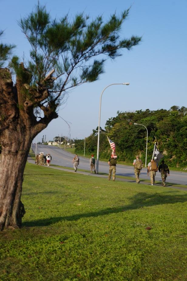 2013 Bataan Memorial March at Kadena Air Base, Okinawa, Japan.