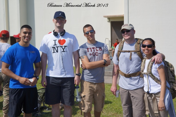 We remember heroes. 2013 Bataan Memorial March at Kadena Air Base, Okinawa, Japan.