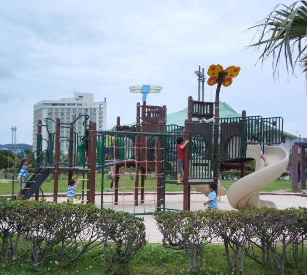 A children's playground at Okinawa Convention Center in Ginowan.