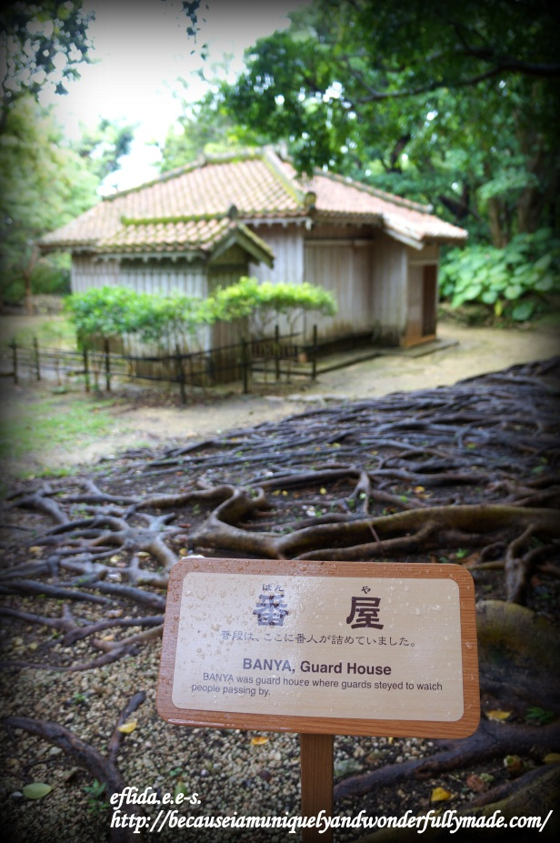 The Banya or the Guard House at Shikinaen in Okinawa, Japan where guards stayed to watch people passing by.