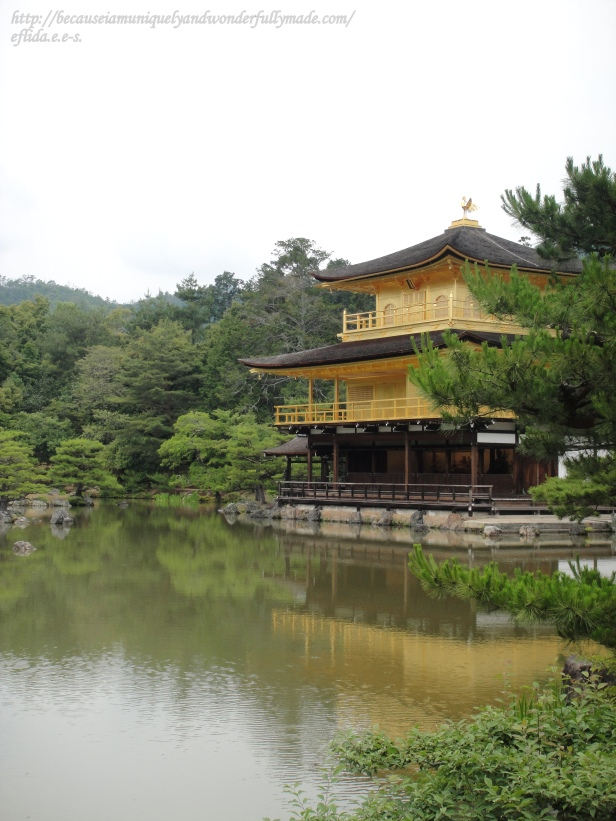 Kinkaku-ji is designated as a National Special Historic Site and a National Special Landscape, and it is one of the 17 locations comprising the Historic Monuments of Ancient Kyoto World Heritage Site. It houses Kinkaku or The Golden Pavilion.