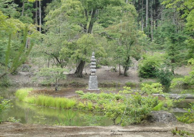 "The Anmintaku Pond with a mound of white snake called ""Shirohebi no Tsuka"" at Kinkaku-ji in Kyoto, Japan is said to never dry up."