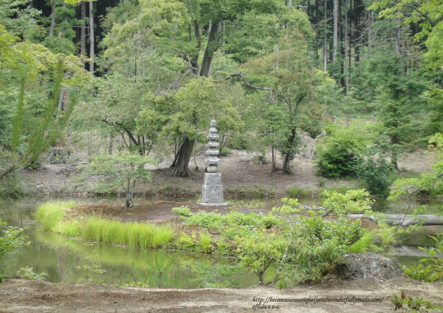"The Anmintaku Pond with a mound of white snake called ""Shirohebi no Tsuka"" at Kinkaku-ji in Kyoto, Japan is said to never dry up."