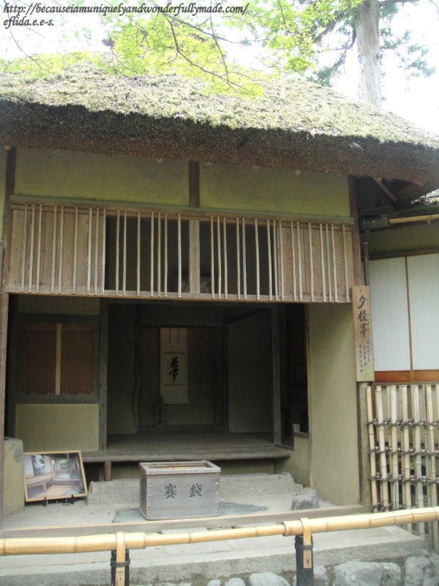 The Sekatei or tearoom is a reconstruction of the one built during the Edo Period and the oldest building left since the temple burnt down in 1950.