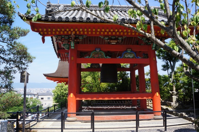 The Bell Tower at Kiyomizu-dera Temple in Kyoto, Japan.