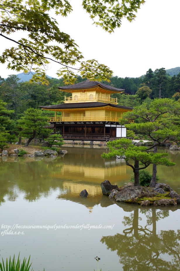 Kinkaku or the Golden Pavilion in Kyoto, Japan is perhaps the most beautiful structure in all of Japan.