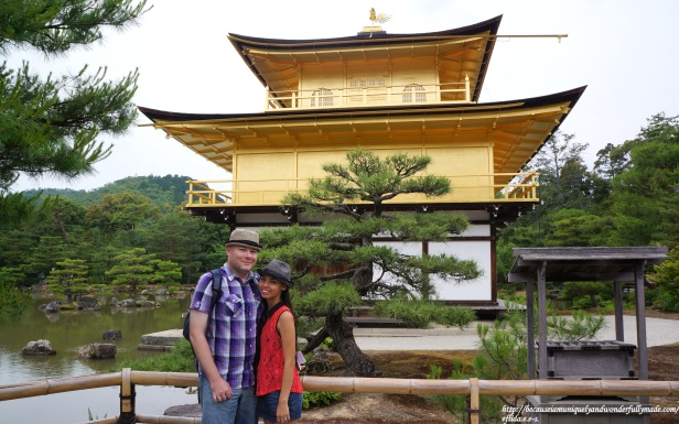 Hubby and I at Kinkaku-ji in Kyoto, Japan.