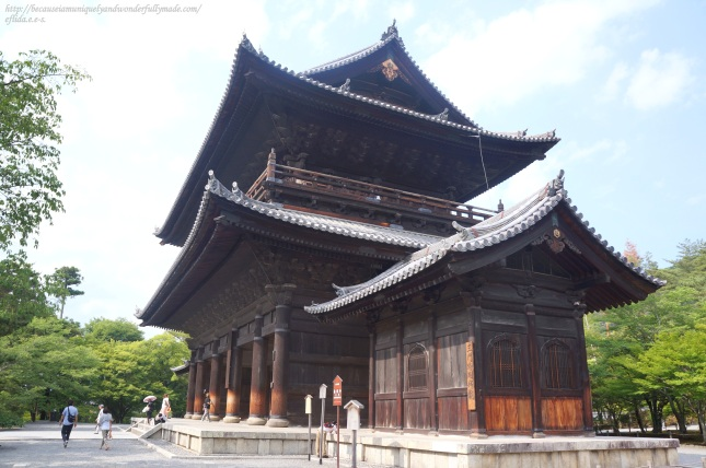 The Sannon entrance gate at Nanzenji Temple in Kyoto, Japan was built in 1628 by Todo Takatora in memory of those who died in the civil War Oska Natsu-no-jin or the Seige of Osaka.