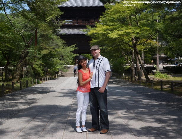 Hubby and I in front of the Sannon entrance gate at Nanzenji Temple in Kyoto, Japan.