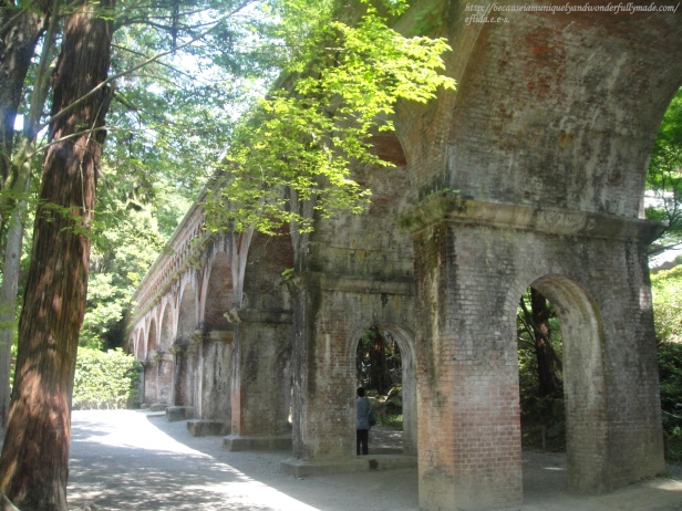 The aqueduct or locally called Sosui at Nansen-ji Temple in Kyoto, Japan was built during the Meiji Period as a waterway between Kyoto City and Lake Biwa in Shiga.