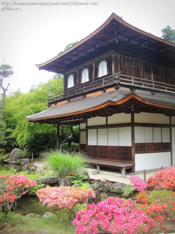 "Ginkaku-ji, officially named Jishō-ji 慈照寺 which means ""Temple of the Silver Pavilion"" , in Kyoto, Japan."