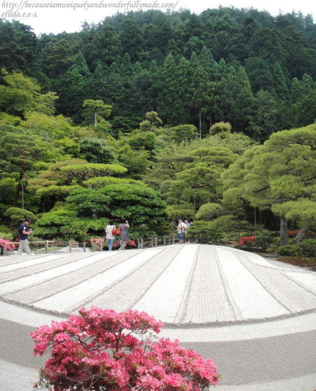 "The sand garden at Ginkaku-ji in Kyoto, Japan, known as the ""Sea of Silver Sand"","
