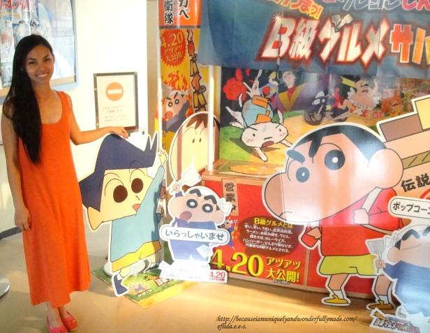 Kureyon Shin-chan artwork at Kyoto International Manga Museum