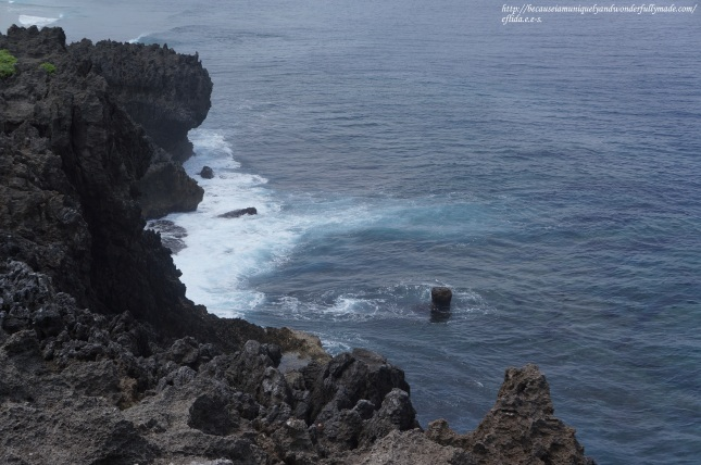 South China Sea waves crashing Cape Hedo as we look out West.