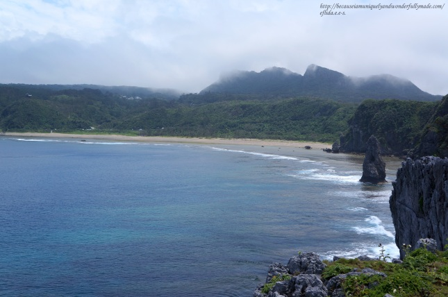 Captivating view from Cape Hedo point in Okinawa, Japan.