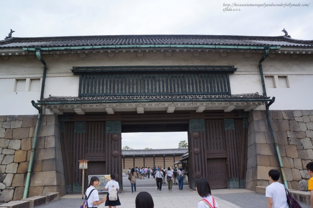 The gates at Nijo Castle in Kyoto, Japan.