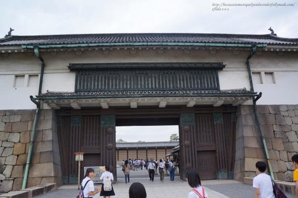 The gates at Nijo Castle in Kyoto, Japan.