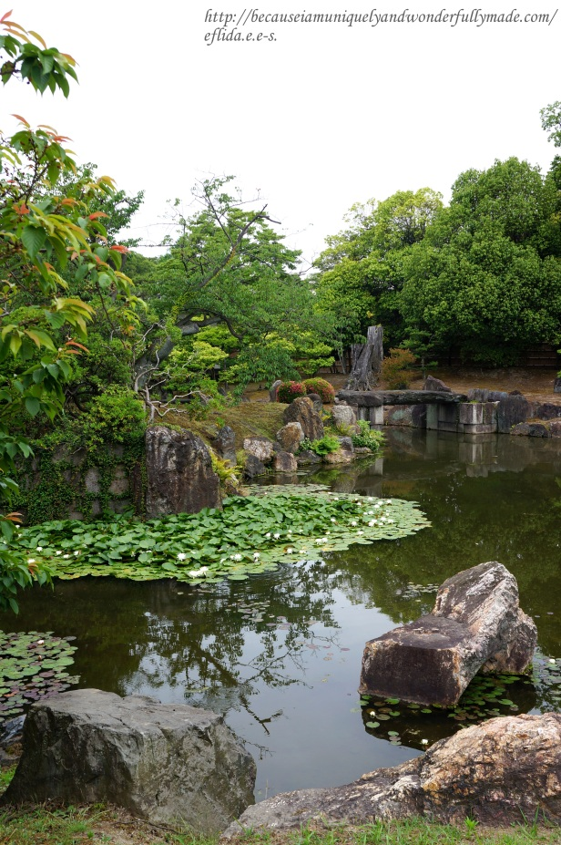 The garden southwest of Ninomaru Palace at Nijo Castle in Kyoto, Japan.