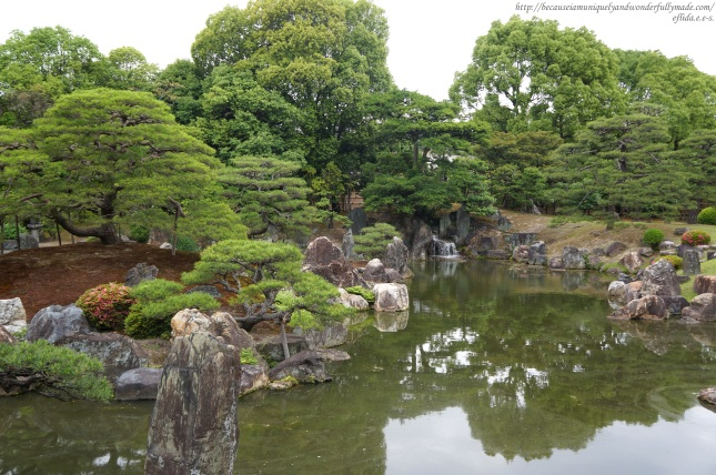 "The ""central paradise"" garden at Nijo Castle in Kyoto, Japan."