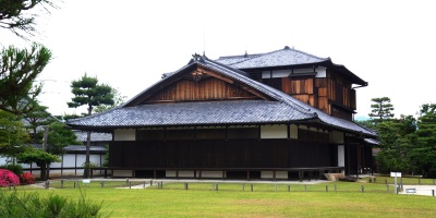 The Honmaru Palace at Nijo Castle in Kyoto, Japan served as the residence during the final days of the Tokugawa Shogunate.