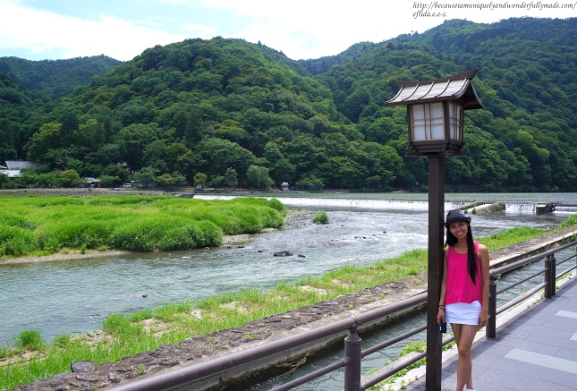 A walk on the side of Hozugawa River in Kyoto Japan is nevertheless a memorable experience even without the boat ride.