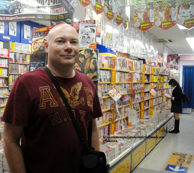 A glimpse of the inside of one of the Otaku shops in Akihabara in Tokyo, Japan.