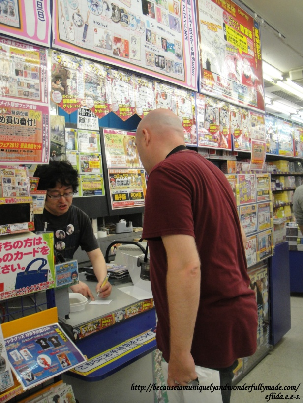 An ingenious way to help yourself shop around Akihabara in Tokyo, Japan is writing on a piece of paper the merchandise you are hunting for especially not knowing the equivalent Nihonggo or Kanji of the English name.