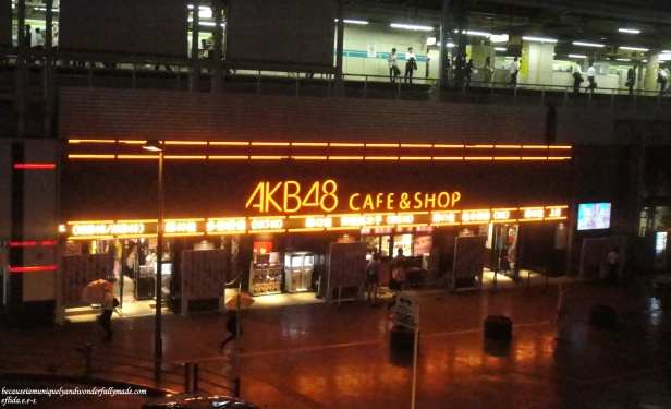 The famous AKB48 Cafe and Shop at Akihabara in Tokyo, Japan.