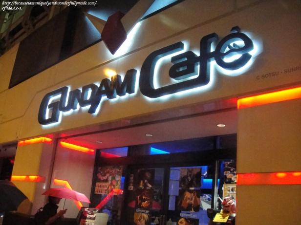 The famous Gundam Cafe and Shop at Akihabara in Tokyo, Japan.