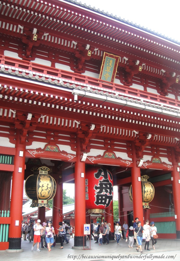 The Hozomon Gate at Senso-ji Temple in Tokyo, Japan has compartments that consist of storerooms that hold Senso-ji's treasures and Buddhist objects.