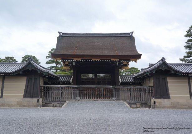 One of the gates at Kyoto Imperial Palace.