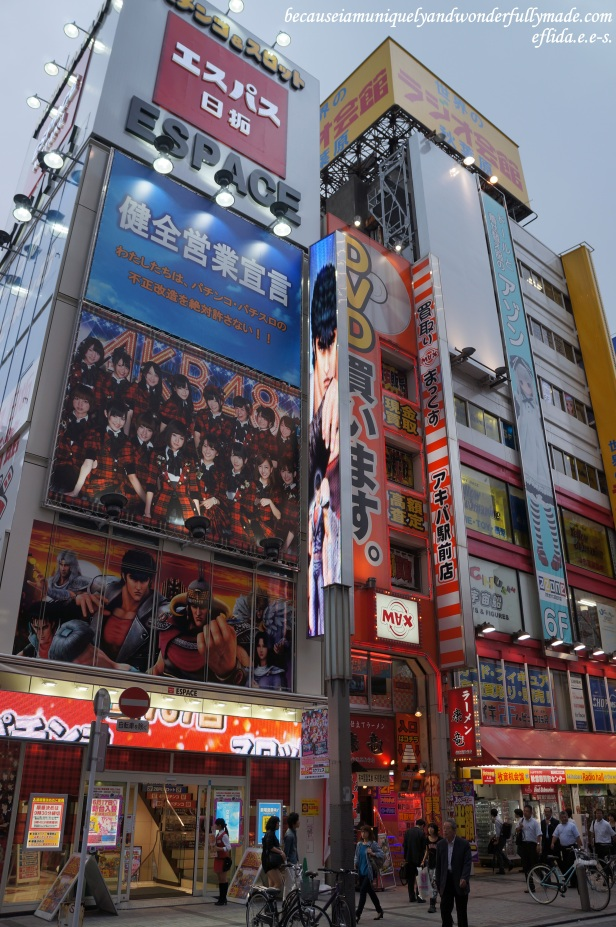 One of the colorful shops in Akihabara, the Electric Town of Tokyo, Japan offering the latest in gadget and technology.