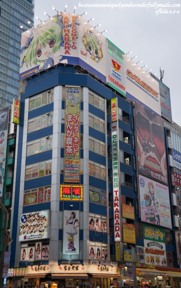 Akihabara is considered a mecca for technology in Tokyo, Japan.