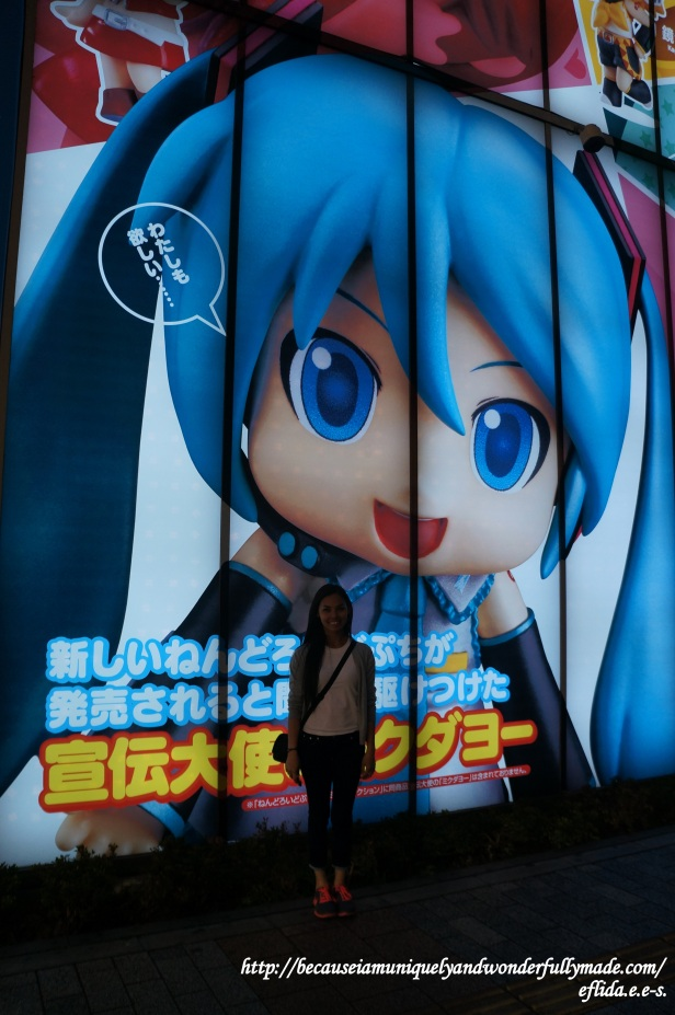Hatsune Miku, one of the famous icons at Akihabara for Otakus in Tokyo, Japan.