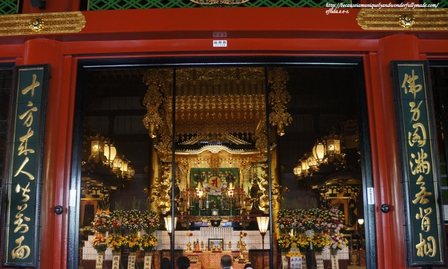 The Main Hall or the Kannondo Hall at Senso-ji Temple in Tokyo, Japan is declared a national treasure housing the secret Bodhisattava Kannon statue which is kept in the rear chamber, and the duplicate statue that is displayed at the front chamber.