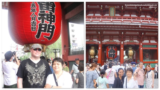 Senso-ji Temple in Tokyo, Japan with my Mother's younger sister, Tita Mimi Nagasaki.