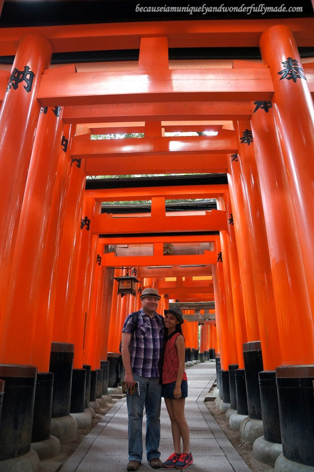 "The Senbon Torii 千本鳥居 which means ""thousands of torii gates"" at Fushimi Inari Taisha 伏見稲荷大社 in Kyoto, Japan."