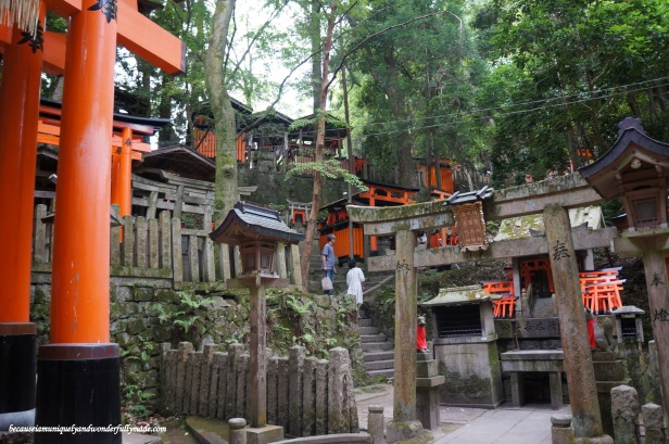 One of the graveyards passed while climbing the slopes of Fushimi Inari Taisha 伏見稲荷大社 in Kyoto, Japan.