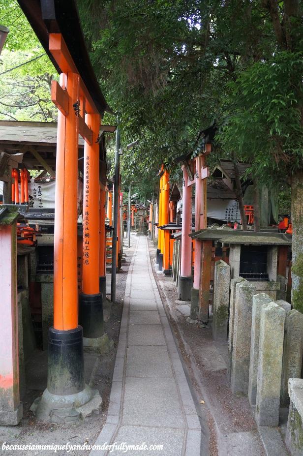 The small graveyard pathways at Fushimi Inari Taisha 伏見稲荷大社 in Kyoto, Japan.