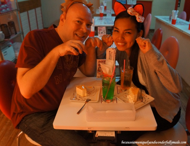 At Maidreamin Cafe メイドカフェ めいどりーみんfor our first maid cafe メイド喫茶 / メイドカフェ experience at Akihabara DIstrict in Tokyo, Japan.