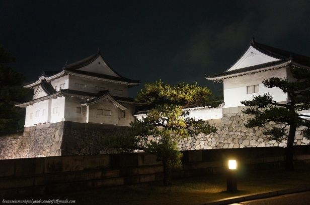 Osaka Castle 大坂城 at night in Chūō-ku, Osaka, Japan.