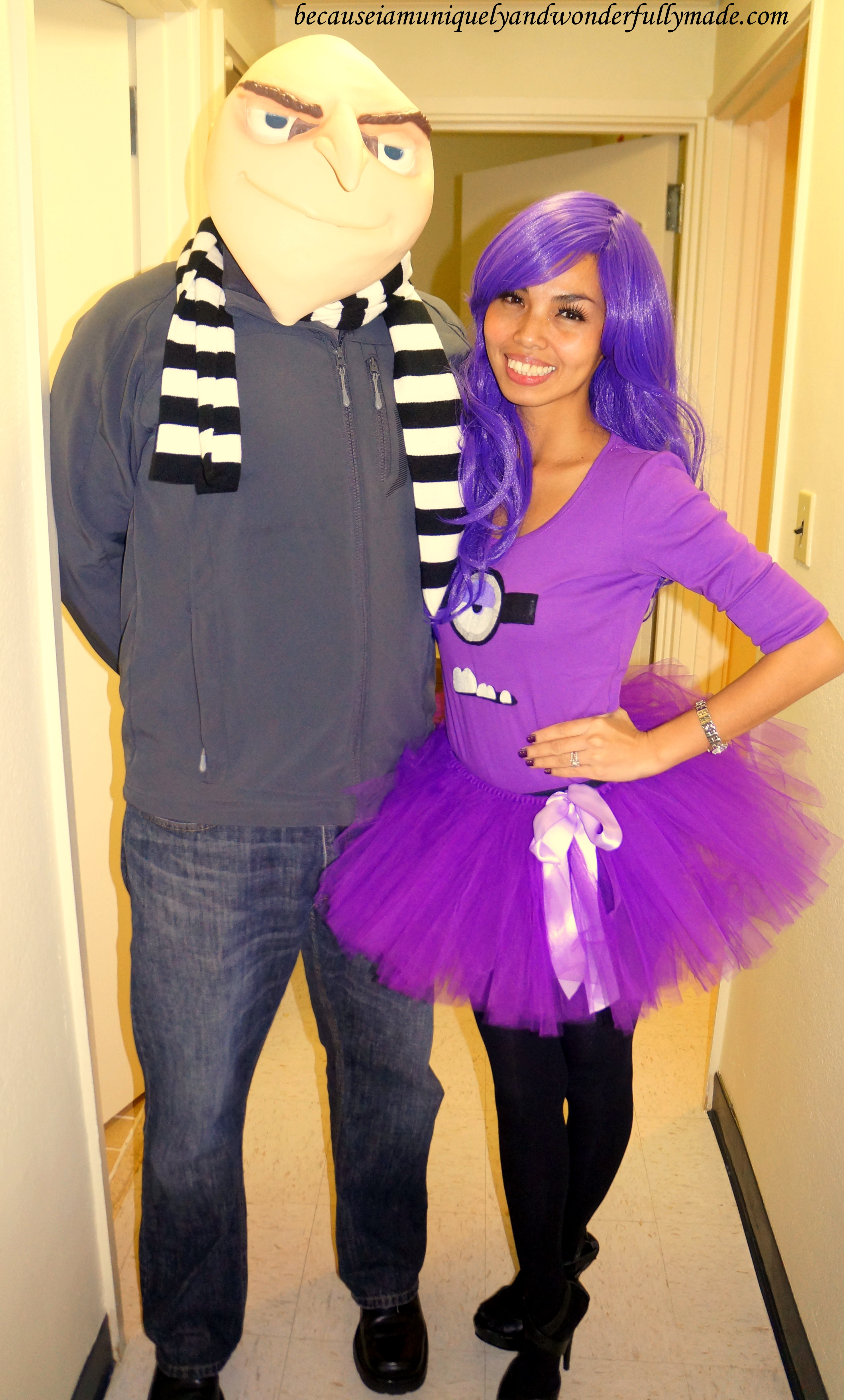 Hubby and I as Gru and his Purple Evil Minion from Despicable Me movie for Halloween  sc 1 st  i am uniquely and wonderfully made. & Despicable Me Gru and Purple Minion on Halloween 2013 u2013 Okinawa ...